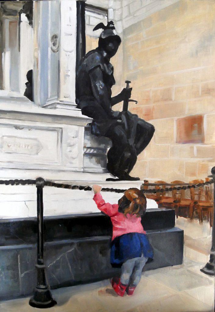 Enfant et Statue